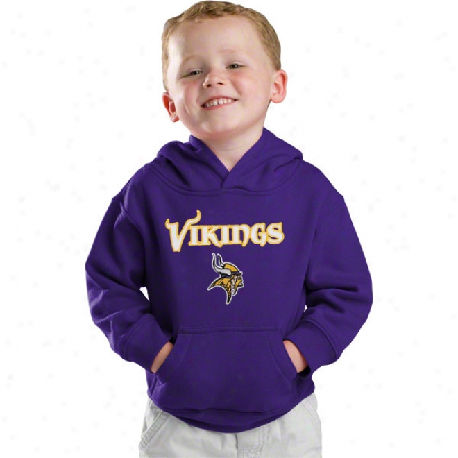 Minnesota Vikings Prple Kids 4-7 Embroidered Hooded Sweatshirt