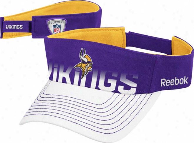 Minnesota Vikings Reebok 2010 Adjustable Sideline Visor