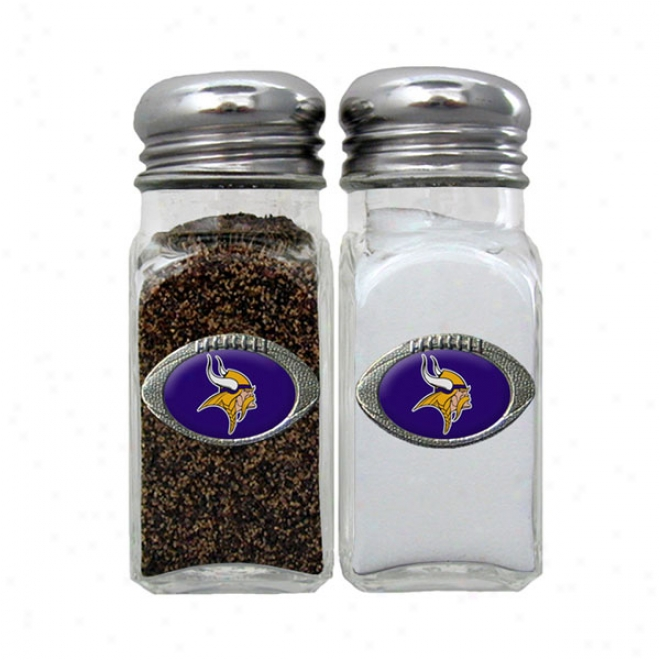 Minnesota Vikings Salt And Pepper Shakers - Set Of 2