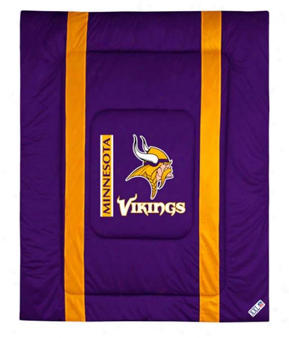 Minnesota Vikings Sideline Full/queen Comforter