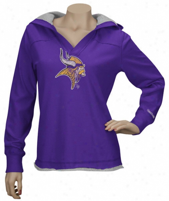 Minnesota Vikings Women's Classics Hooded Long Sleeve T-shirt