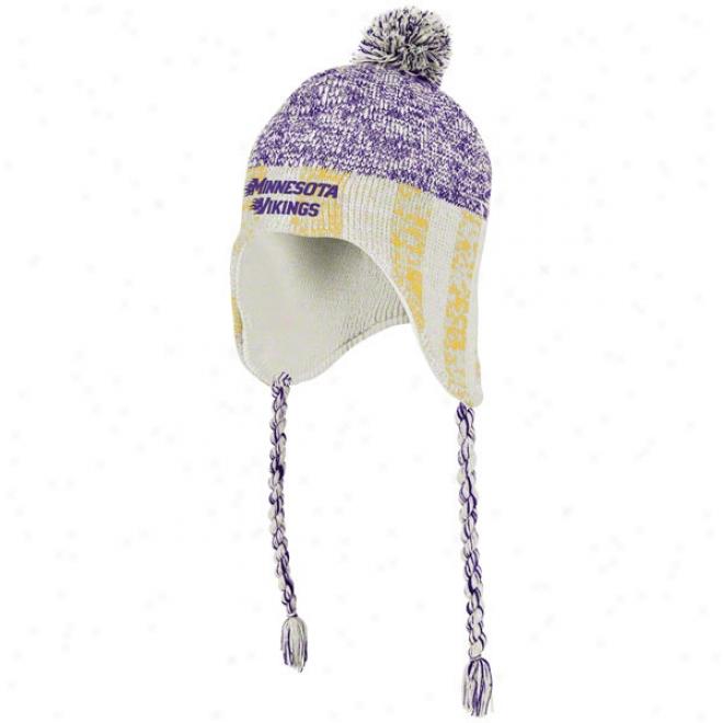 Minnesota Vikings Women's Knit Hat: Lifestype Tassel Pom Knit Hat