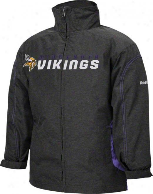 Minnesota Vikings Youth Purple Reebok Sideline Lightweight Jacket