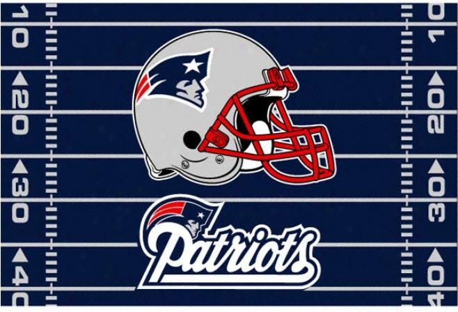 Nww England Patriots 39x59 Acrylic Tufted Rug