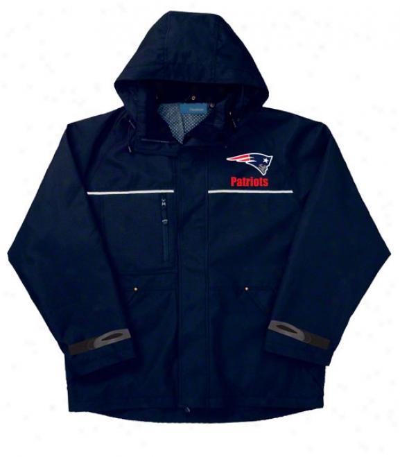 New England Patriots Jacket: Navy Reebok Yukon Jacket