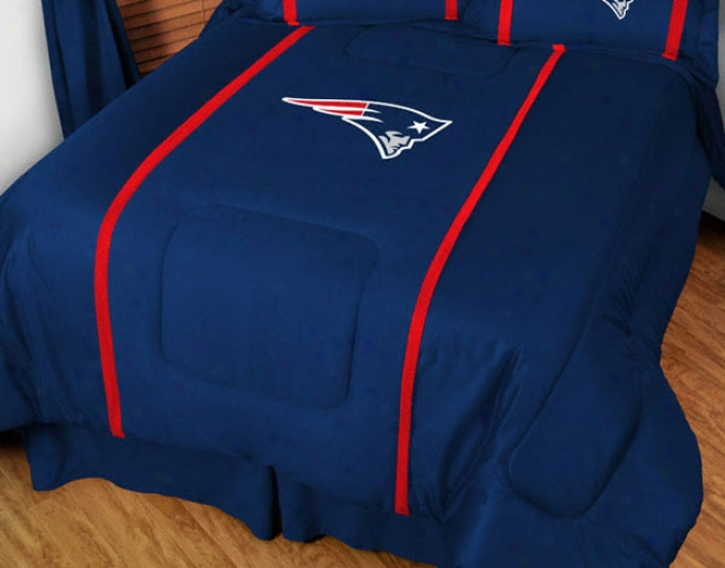 New England Patriots Mvp Team Color Comforter - Doubled Bed