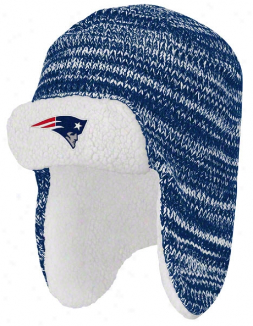 New England Patriots Trooper Sherpa Lined Knit Hat