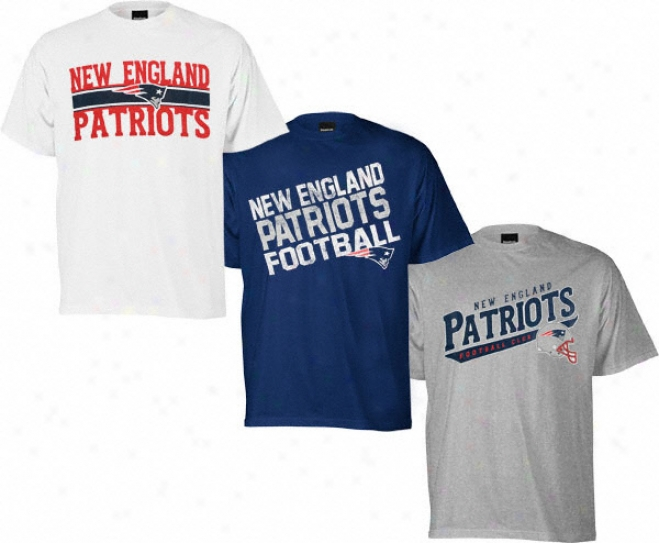 New England Patriots Youth 3 Tee Combo Pack