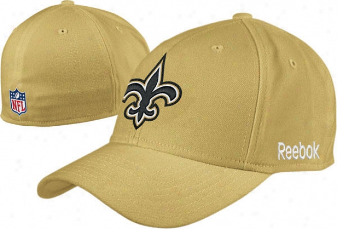 New Orleans Saints 2010 Gold Flex Sideline Structured Hat