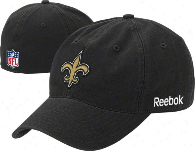 New Orleans Saints 2011 Black Fitted Sidellne Slouch Hat