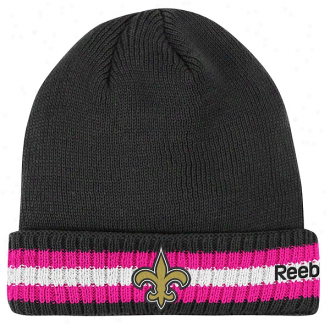New Orleans Saints 2011 Breast Cancer Awareness Sideline Cuffed Knit Hat