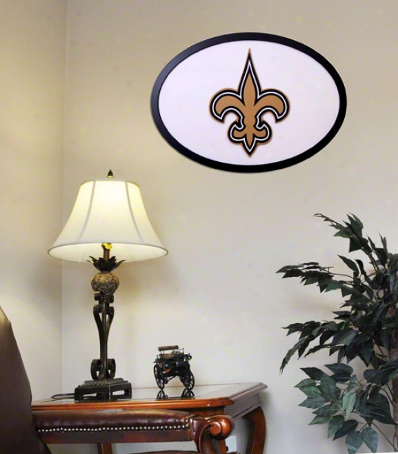 New Orleans Saints 31 Inch Logo Wall Practical knowledge