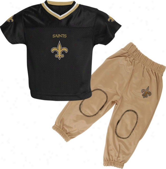 New Orleans Saints Infant Football Jersey And Pant Set
