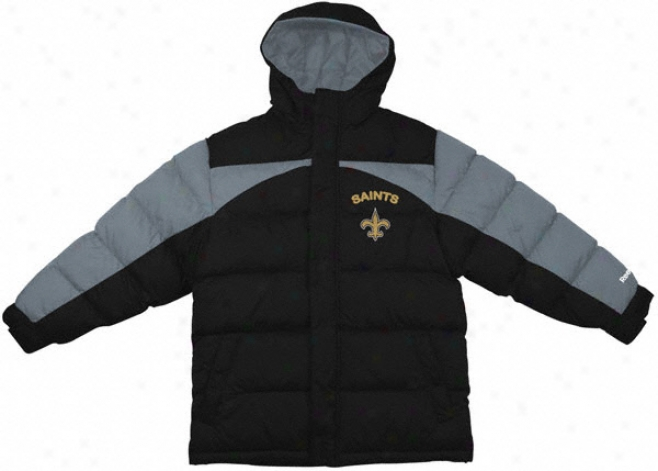 New Orleans Saints Kidd (4-7) Heavyweight Quilred Parka