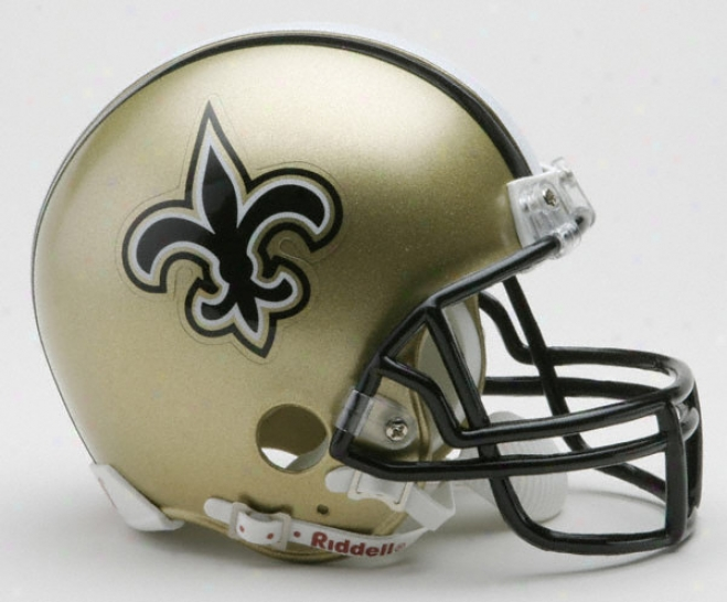 New Orleans Saints Nfl Riddell Mini Helmet