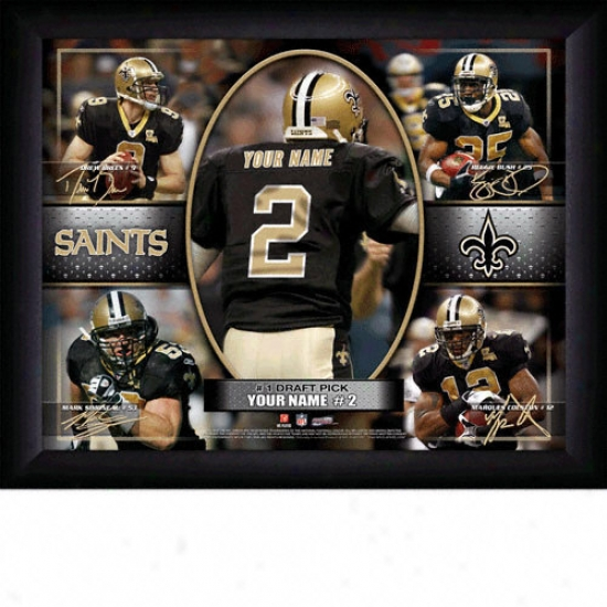 New Orleans Saints Personalized Action Collage Print