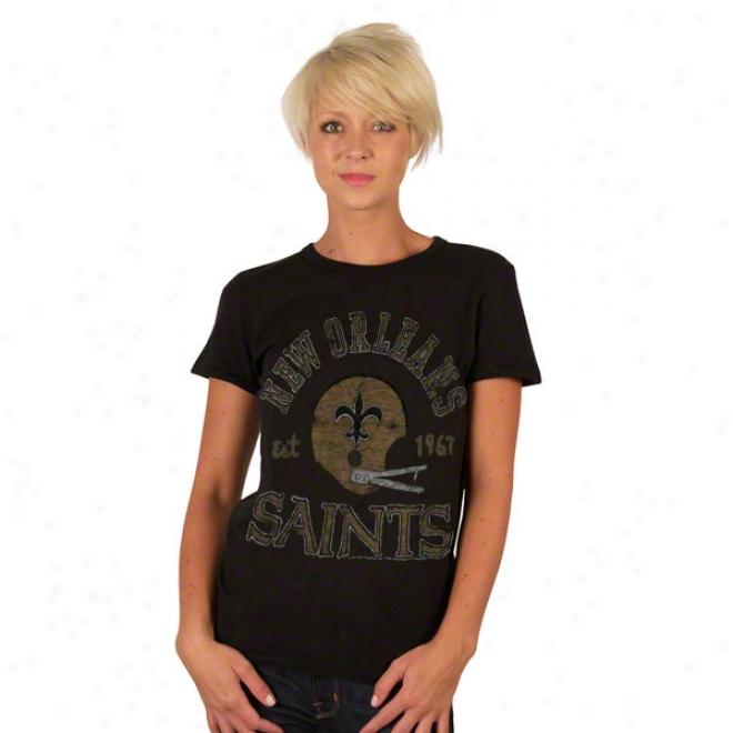 New Orleans Saints Solid Vintage Helmet Women's T-shirt