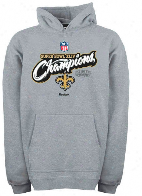 New Orleans Saints Super Bowl Xliv Champions Youth Reebok Official Locker Room Hooded Fleece Sweatshirt