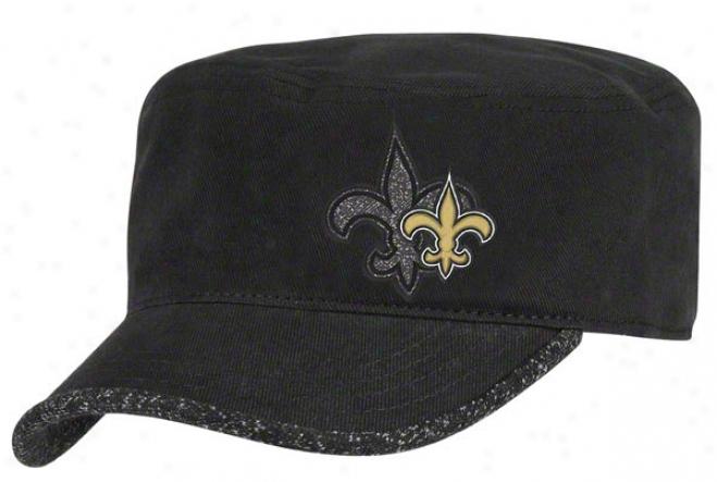 New Orleans Saints Women's Hat: 2011 2nd Season Player Hook Adjustable Militar Crown