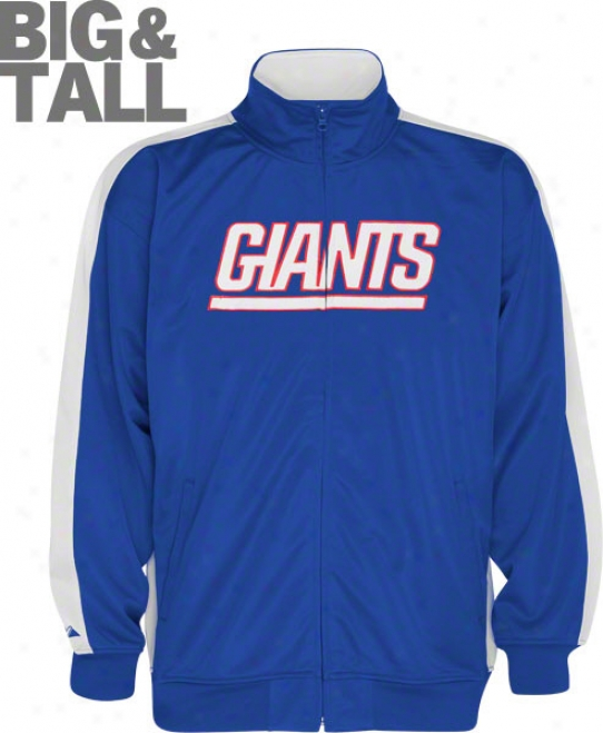 New York Giants Big & Tall Qb Track Jacket