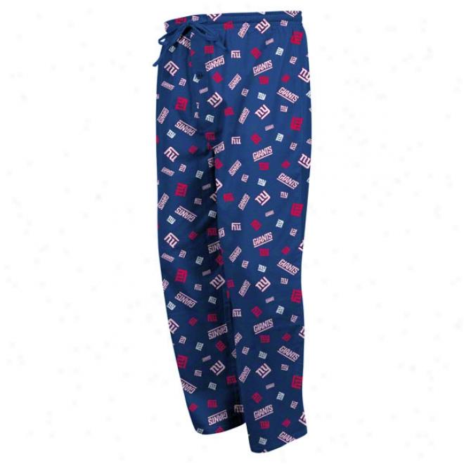 New York Giants Bootleg Play Iii Royal Sleep Pants