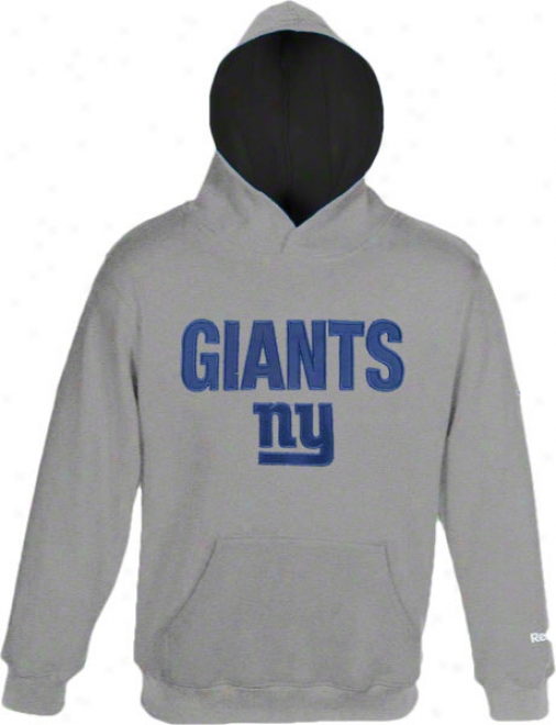 New York Giants Kids (4-7) Grey Sportsman Fleece Hooded Sweatshirt