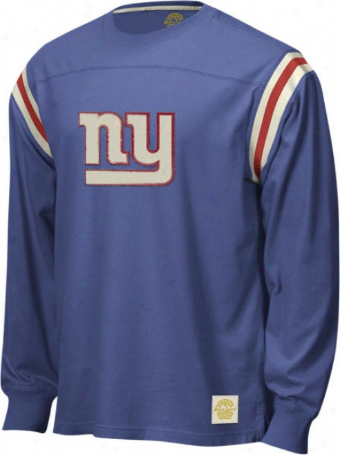 New York Giants Retro Sport Long Sleeve Logo Applique Jersey Company