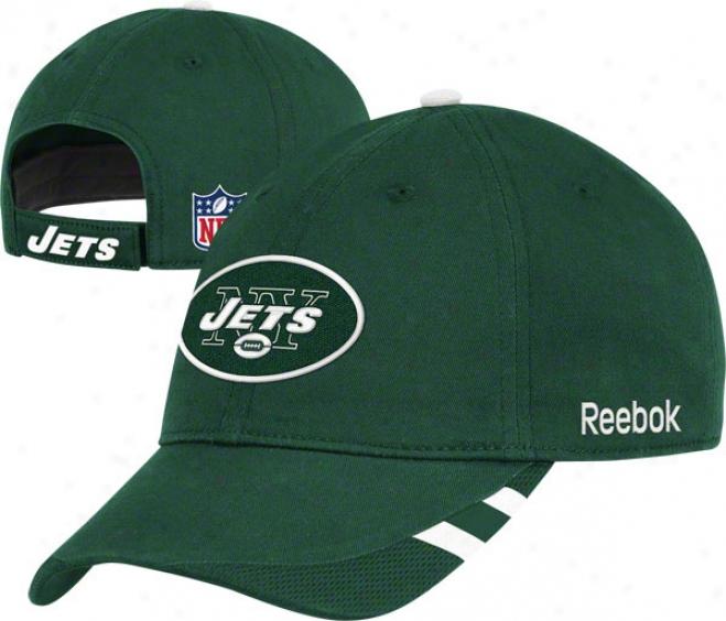 New York Jets Adjustable Hat: 2011 Sideline Slouch Hat