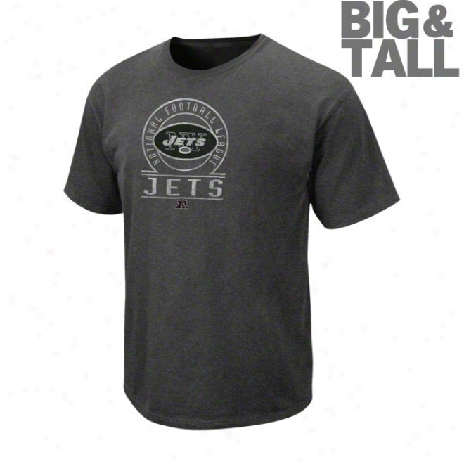 New York Jets Big & Tall Vintage Stadium Wear Ii Pigment Dye T-shirt