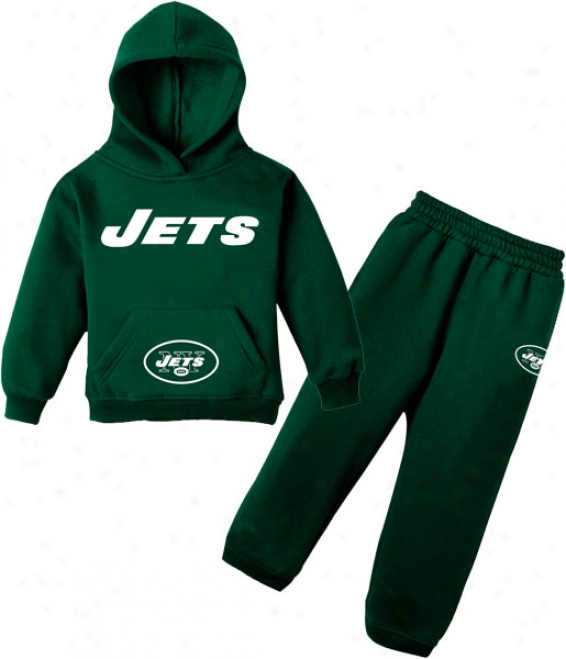 New York Jets Infant Fleece Hoodie And Pant Set