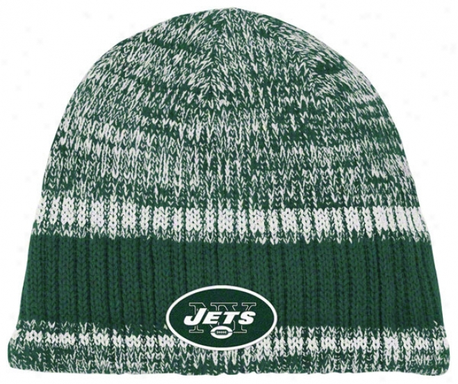 New York Jets Knit Hat: Heathered Uncuffed Knit Hat