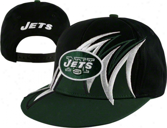 New York Jets Nfl Slash Snapback Hat