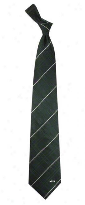 New York Jets Oxford Woven Silk Tie