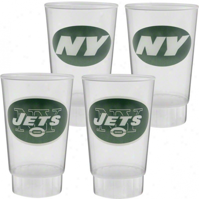 Starting a~ York Jets Pladtic Tumbler 4-pack