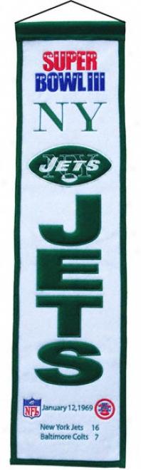 New York Jets Super Bowl Iii Heritage Banner