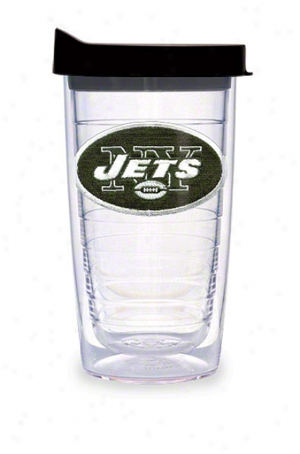 New York Jets Tervis Tumbler 16 Oz Cup W/ Lid