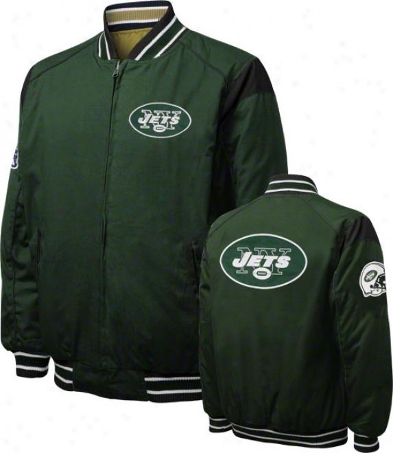 New York Jets Turn Back The Clock Full-zip Reversible Jacket
