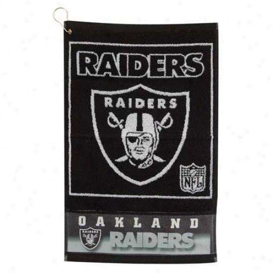 Oakland Raiders 16x24 Jacquard Golf Towel