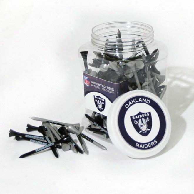 Oakland Raiders 175 Pc. Golf Tee Jar