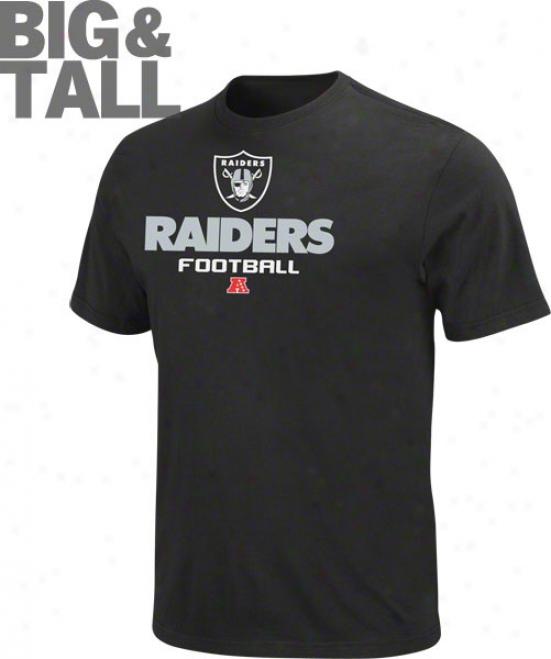 Oakland Raiders Big & Tall Critical Victory V T-shirt