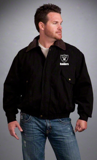 Oakland Raiders Jacket: Black Reebok Navigator Jacket