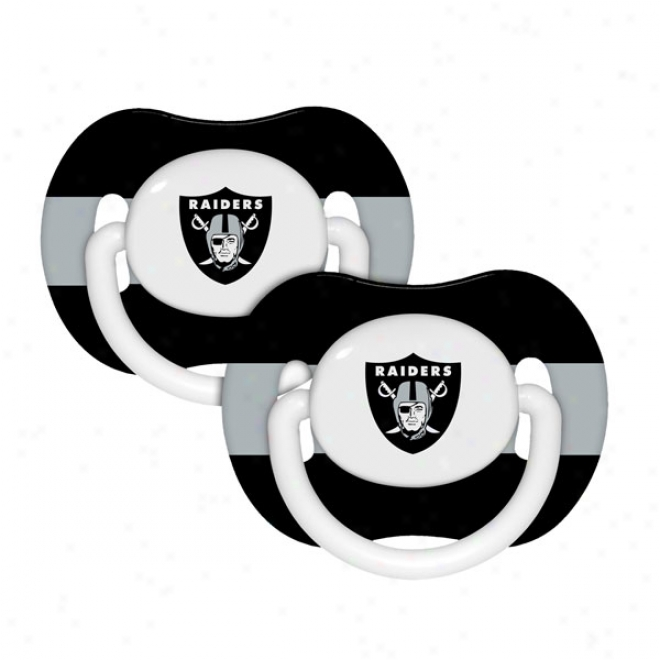 Oakland Raiders Pacifier 2-pack