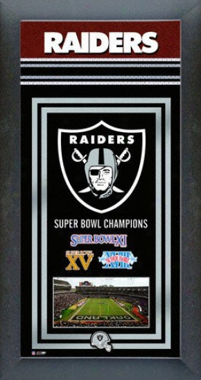 Oakland Raiders Super Bowl Framed Team Championship Series
