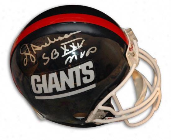 Ottis ''oj'' Anderson Autographed Pro-line Helmet  Particulars: New York Giants, Witb ''sb Xxv Mvp'' Inscription, Genuine Riddell Helmet