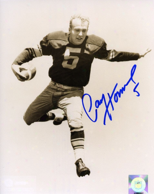 Paul Hornung Green Bay Packers - Vert/b&w - 8x10 Autogra0hed Photograph