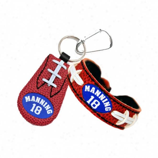 Peyton Manning Indianapolis Colts Bracelet & Keychain Set