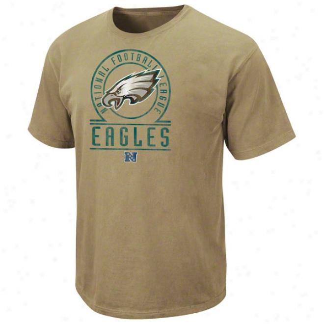 Philadelphia Eagles Beige Vintage Stadium Wear Ii T-shirt