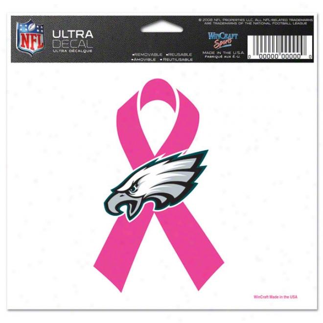 Philadelphia Eaglex Breast Cancer Awareness 4x6 Ultra Decal