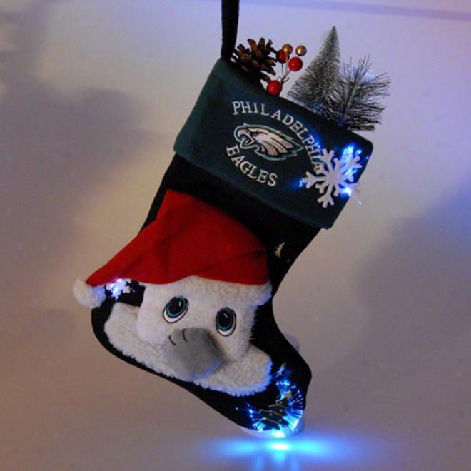Philadelphia Eagles Fibet Optic Mascot Stocking