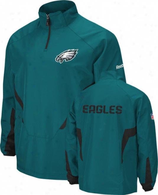Philadelphia Eagles Grsen 2010 Sideline Hot 1/4 Zip Jacket